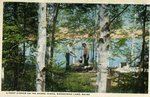 A Camp Dinner on the Shore, Kineo, Moosehead Lake, Maine