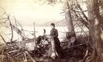 Woman Standing on Shore, Rangeley Lake Views