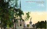 Soldiers Monument and Universalist Church, Biddeford, Postcard