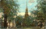 Bangor, Maine, Hammond and High Streets Postcard