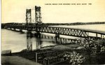 Carlton Bridge Over Kennebec River Postcard