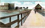 Camp Ellis Station and Pier Postcard