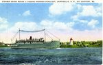 Steamer Grand Manan II Passing Narrows Headlight Postcard