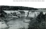 Power House and Dam on Union River Postcard