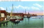 Along the Waterfront, Eastport, Maine Postcard