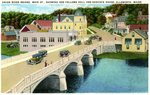 Ellsworth's Union River Bridge, Main Street Postcard