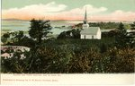 Isle au Haut Church and Point Look Out Postcard