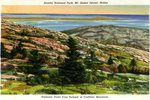 Schoodic Point from Cadillac Mountain Postcard