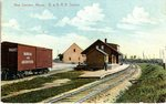 New Sweden Station, Bangor and Aroostook Railroad Postcard