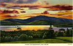 Moosehead Lake Sunset Postcard