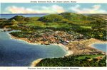 Airplane View of Bar Harbor Postcard
