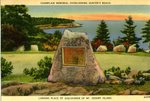 Champlain Memorial Overlooking Hunter's Beach Postcard