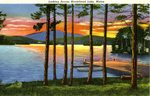 Looking Across Moosehead Lake Postcard