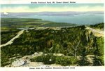 Scene From The Cadillac Mountain, Summit Road           Postcard