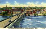 North Bridge, Androscoggin River,      Postcard