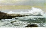 Old Orchard Beach Surf and Rocks Postcard
