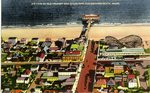 Old Orchard and Ocean Pier Aerial View Postcard