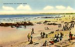 Old Orchard Beach, Googins Rocks Postcard