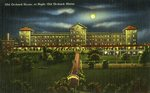 Old Orchard House at Night Postcard