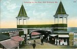 Entrance to the Pier, Old Orchard Postcard