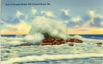 Surf at Googins Rocks Postcard