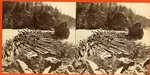 Log Jam at Ripogenus Stereoscopic View
