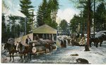 Norway, Maine Logging Camp Postcard