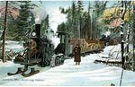 Lincoln, Maine Steam Log Haulers Postcard