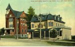 Old Orchard Town Hall and Post Office Postcard