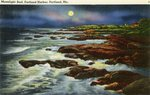 Portland Harbor Moonlight Surf Postcard