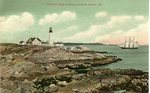 Portland Light, Entrance to Portland Harbor Postcard