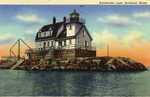 Breakwater Light, Rockland, Maine Postcard