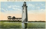 Portland Harbor, Ram Island Light Postcard