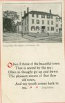 Longfellow's House, Portland, Maine, Postcard
