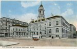 Portland Maine City Hall and Auditorium Postcard
