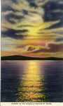 Rangeley Region Sunset Postcard