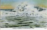 Old Orchard, Incoming Tide Waves Postcard