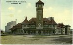 Portland Grand Trunk Railroad Station Postcard