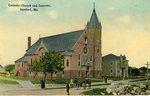 Catholic Church and Convent, Sanford, Me.        Postcard