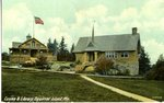 Squirrel Island, Maine, Casino and Library Postcard