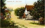 Sargentville, Maine, Street Scene            Postcard