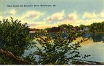 Skowhegan View Across the Kennebec River           Postcard