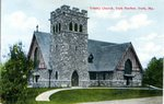 York Harbor's Trinity Church Postcard