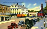 Westbrook, Maine, Main Street and Vallee Square Postcard