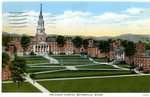 Colby Campus, Waterville, Maine, Postcard
