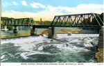 Maine Central Bridge Over The Kennebec River, Waterville, Maine, Postcard