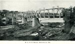 Waterville, Maine Central Railroad Bridge Postcard