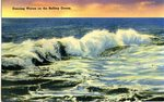 Dancing Waves on the Rolling Ocean Postcard