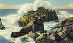 Rocky Coast and Pounding Waves Postcard