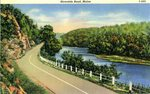 Maine Riverside Road Postcard